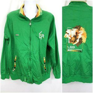 LRG Lifted Research Group Green Zip Track Jacket